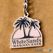 White sands Soft Enamel keychain S