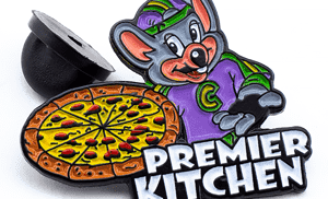 Premier Kitchen Black Metal Lapel Pin@2x