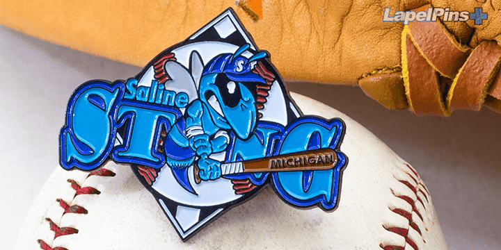 Saline Sting Michigan Trading Pin