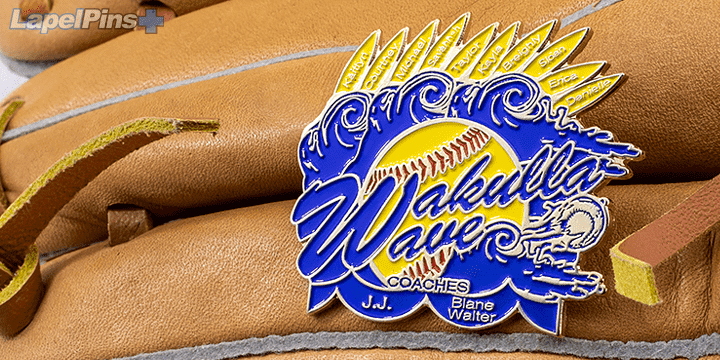 Wakulla Wave Coaches Trading Pin