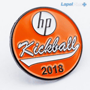 HP Kickball Black Metal Lapel Pin Plus@2x