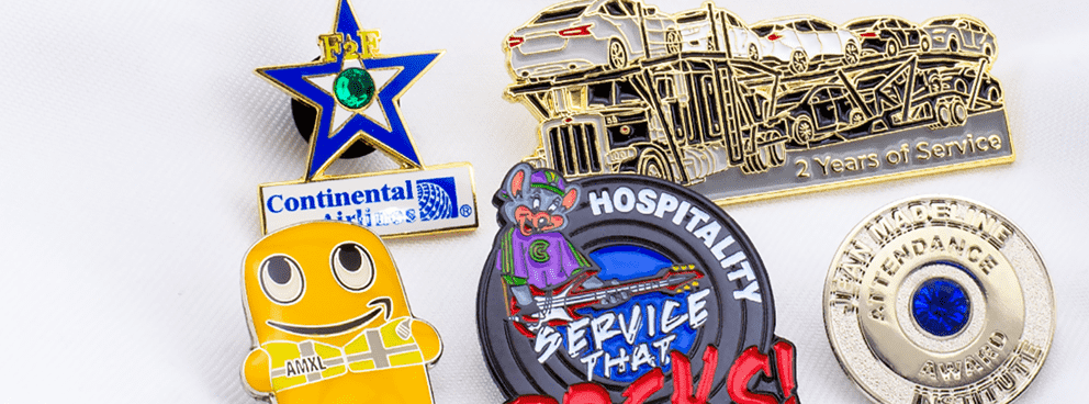 Employee Recognition lapel pin header mobile