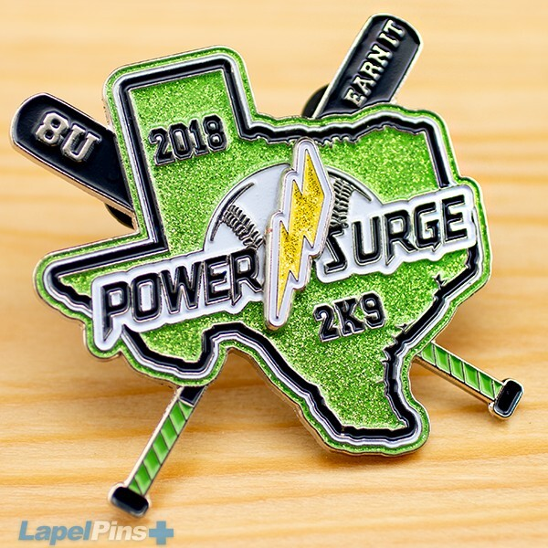 Power Surge Glitter Pin