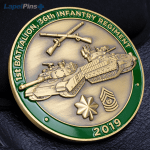 3D First Battalion, 36th Infantry Regiment challenge coin