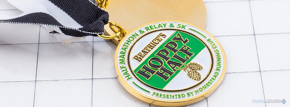 Hoppy Half Soft Enamel Custom Medal