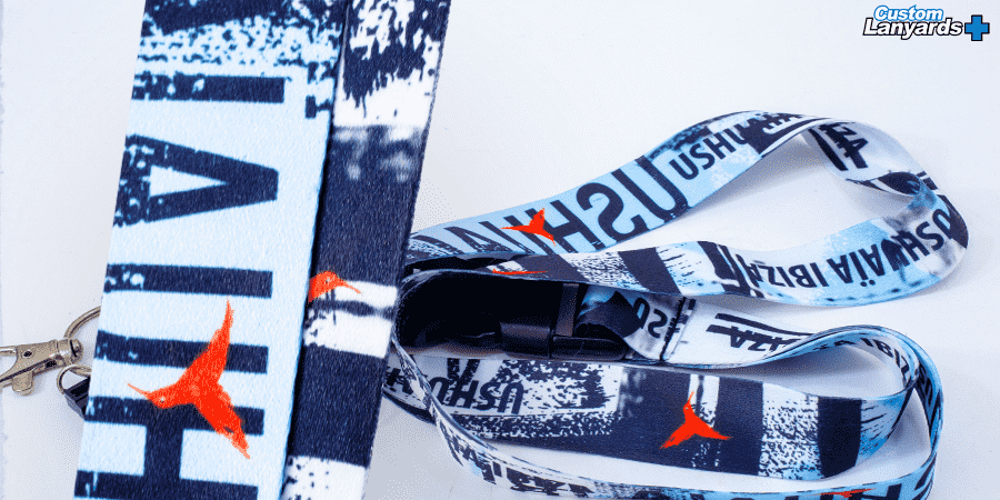 Nylon lanyard sublimation print - Custom lanyards plus