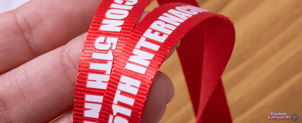 Custom lanyards Nylon Lanyard closeup