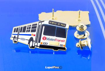 Metro Transit Lapel Pins Plus 2