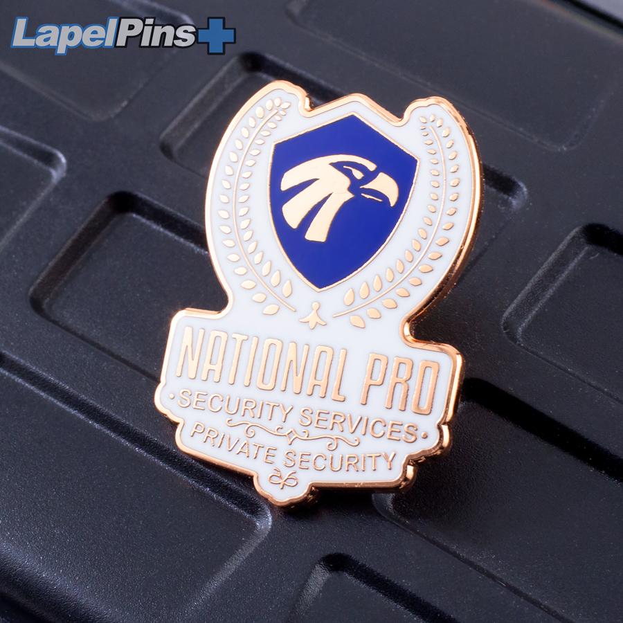 National Pro Copper Lapel Pin