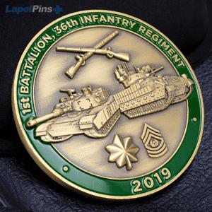 3D First Battalion, 36th Infantry Regiment challenge coin