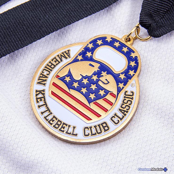 American Kettbell Club Medal by lapel pins plus small