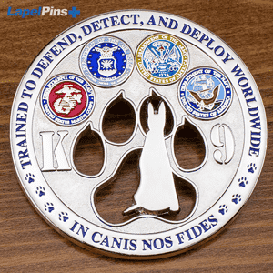 K9 Challenge Coin Cutout - Square