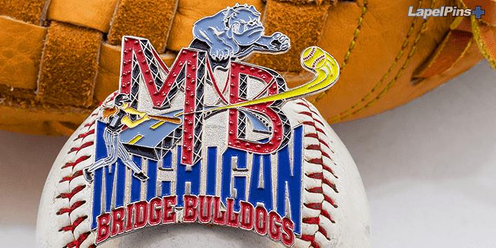 Michigan Bridge Bulldogs Trading Pin by Lapel Pins Plus