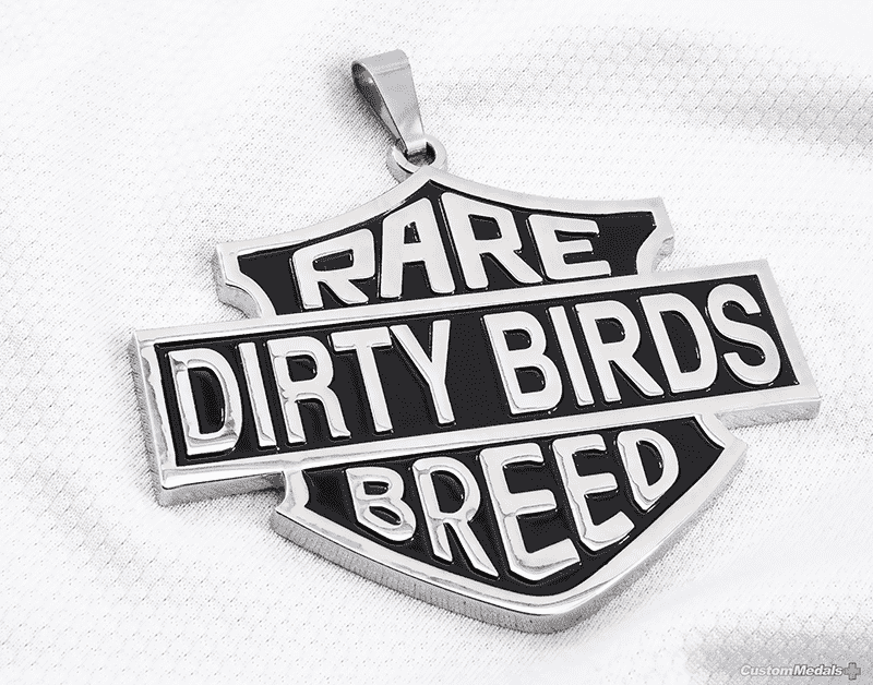 rare dirty bird breed medal