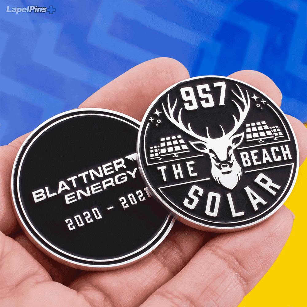 Blattner Energy The-Beach Solar Challenge Coin