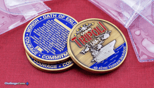 Tripoli Oath of Enlisting Military Challenge Coins