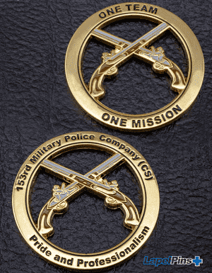 153rd Military Police Challenge Coin Cutout - Vertical