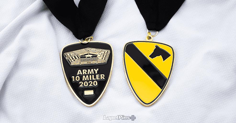 Army 10 Miler Race Medals - Custom Medals Plus