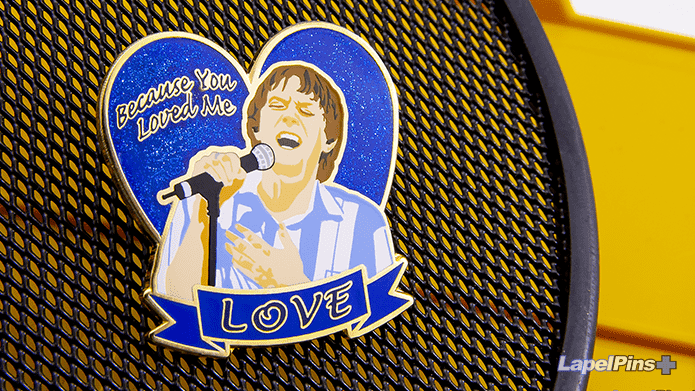 Because you loved me - glitter - silk screen SMALL