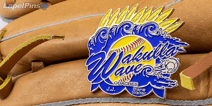Wakulla Wave Coaches Trading Pin