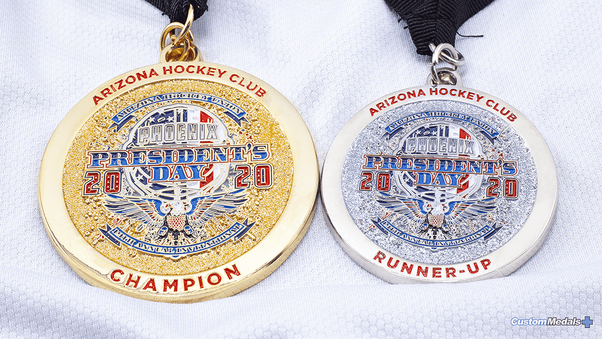 Arizona Hockey Club Gold and Silver Medals by Lapel Pins Plus small