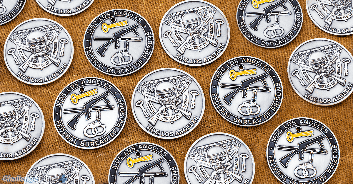MDC Los Angeles FBP Police Challenge Coins